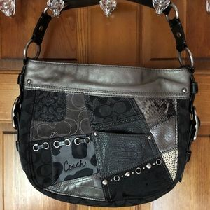 Coach Zoe Patchwork Leather Hobo Bag